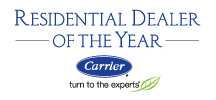 Robies is one of Carrier's most honored dealers, and is the recipient of Carrier's Residential Dealer of the Year award.